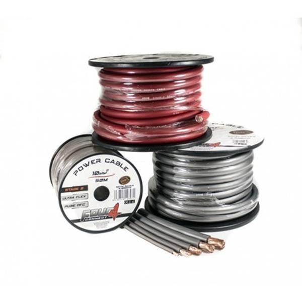 Bilde av 4 CONNECT 10mm2, rød 100% ren kobber
